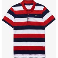 Camisa Polo Lacoste Sport Masculina - Masculino-Vermelho+Azul