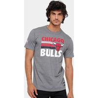 Camiseta Nba Chicago Bulls New Era 15 Melange - Masculino-Chumbo