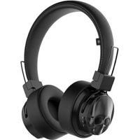Headphone Bluetooth Kimaster Black Skull - Unissex