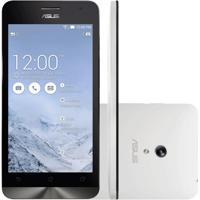 "Smartphone Zenfone 5 Asus Branco - 8Gb - Intel 1.6 Ghz - A501Cg-2B395Bra - Dual Sim - Câmera 8Mp - Tela 5"" - Android 4.3"