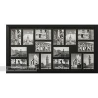 Painel Para 16 Fotos- Preto- 45X85X2Cm- Kaposkapos