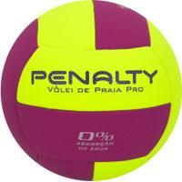 Bola De Vôlei De Praia Penalty Pro X - Amarelo/Rosa
