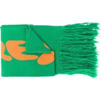 Off-White Echarpe Com Logo - Verde