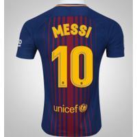 Camisa Do Barcelona I 17/18 Nº 10 Lionel Messi - Masculina - Azul Escuro