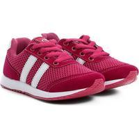 Tênis Infantil Via Vip New Jogging - Feminino-Pink+Branco