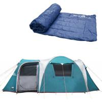 Barraca Camping Nautika Arizona Gt 9/10 Pessoas + Colchonete Camp Mat