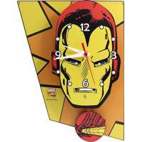 Relógio De Parede Iron Man Geek10 Amarelo