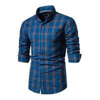 Camisa Xadrez Cleveland Masculina - Azul