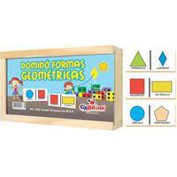 Jogo Ciabrink Dominó Formas Geométricas Madeira Multicolorido
