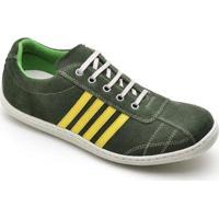 Sapatênis Top Franca Shoes Casual Masculino - Masculino-Verde
