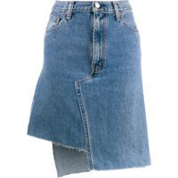 Ji Oh Saia Jeans Assimétrica - Azul