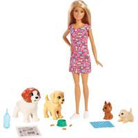 Boneca Barbie - Treinadora De Cachorrinhos - Mattel - Tricae