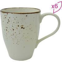 Jogo De Canecas Nature Cream Em Porcelana- Bege Claro & Full Fit