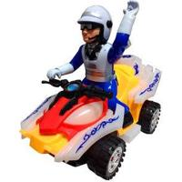 Brinquedo De Mini Moto Policial Que Toca Música E Anda Efeitos Sonoros Som