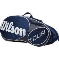 Raqueteira Wilson Esp Tour Six - Azul Esc/Branco