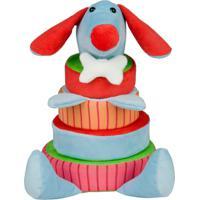 Cai Não Cai Baby - Cas Brinquedos Cachorro - Antialérgico - Colorido - 30 Cm - Azul