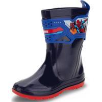 Bota Infantil Marvel Grendene Kids - 22230 Masculina - Masculino-Azul+Vermelho