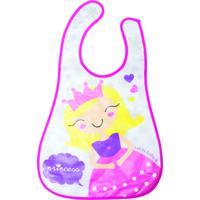 Babador Impermeável Girotondo Baby Atoalhado Princesa Rosa