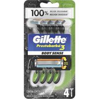 Aparelho De Barbear Gillette Prestobarba 3 Bobysense C/ 4 Unidades