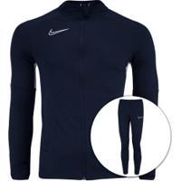 Agasalho Nike Dry Academy Track Suit K2 - Masculino - Azul Esc/Branco