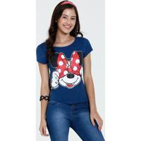 Blusa Juvenil Estampa Minnie Manga Curta Disney
