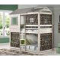 Beliche Infantil Club House Com Tecido Camuflado - Madeira Maciça - Casatema