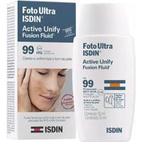 Fluído Facial Clareador Foto Ultra Isdin Fluid Active Unify 50Ml - Unissex-Incolor