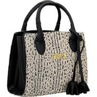 Bolsa Selten Handbag Sanfonada Feminina - Feminino-Creme