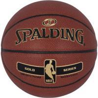 Bola De Basquete Spalding Nba Gold Series - Marrom Escuro