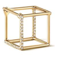 Shihara Brinco De Ouro 18Kt E Diamantes - Metálico