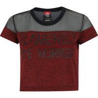7e9fbf688f Camiseta Cropped Do Flamengo Forever - Feminina - Vermelho Preto