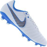 Chuteira De Campo Nike Tiempo Legend 7 Academy Fg - Adulto - Branco Cinza e09bfc7ff122a