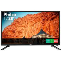 Tv Led 28 Philco Ph28N91D Hd Com Conversor Digital Usb Hdmi Preta