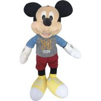 Pelúcia 18 Cm - Disney - Mickey Mouse - Dtc - Unissex-Incolor