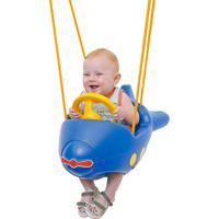 Balanço Avião Xalingo Infantil Azul