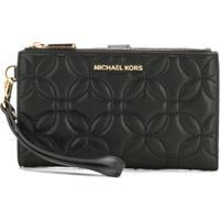 Michael Michael Kors Large Quilted Smartphone Wristlet - Preto