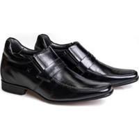Sapato Social Couro Rafarillo Conforto Salto 7Cm Masculino - Masculino-Preto