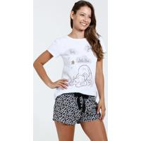 Pijama Feminino Estampa 101 Dalmatas Disney