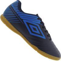 Chuteira Futsal Umbro Striker V Ic - Adulto - Azul Esc/Azul