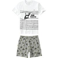 Pijama Branco Estampa Brilha No Escuro Menino