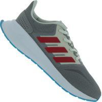 Tênis Infantil Adidas Runfalcon - Cinza/Vermelho