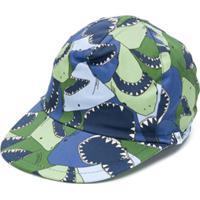 Il Gufo Boné Com Estampa De Tubarão - Azul