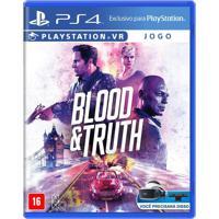 Jogo Blood E Truth - Ps4 Vr