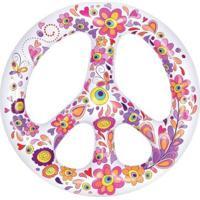 Bóia Inflável Gigante Hippie Paz E Amor - Unissex