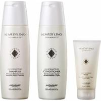 Kit Alfaparf Semi Di Lino Diamante 1 Shampoo 250Ml +1 Condicionador 250Ml + 1 Máscara 150Ml - Unissex-Incolor
