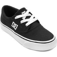 Tênis Infantil Dc Shoes Flash 2 Tx La Masculino - Masculino-Preto+Branco