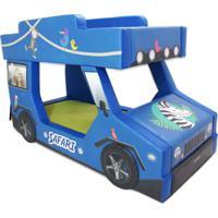Beliche Cegonha Cama Carro Do Brasil Azul