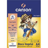 Bloco Vegetal Canson A4 60G Com 50 Folhas Coloridas