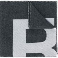 Isabel Marant Echarpe Loli Com Estampa De Logo - Cinza