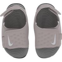 Papete Para Bebê Nike Sunray Adjust 5 Td - Infantil - Roxo Claro/Cinza